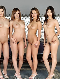 Multiple asian titties and beaver